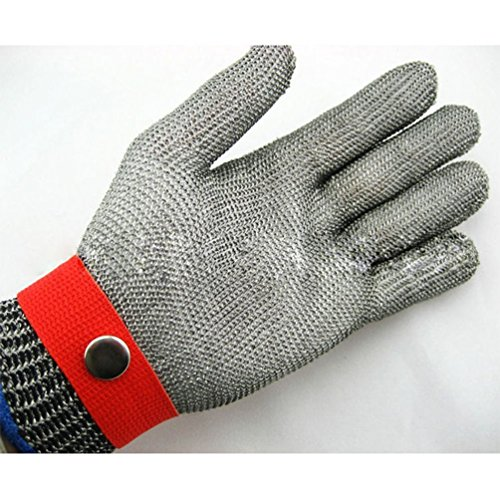Safety Cut Proof Stab Resistant Stainless Steel Metal Mesh Butcher Work Glove by Radkell home series (Image #4)
