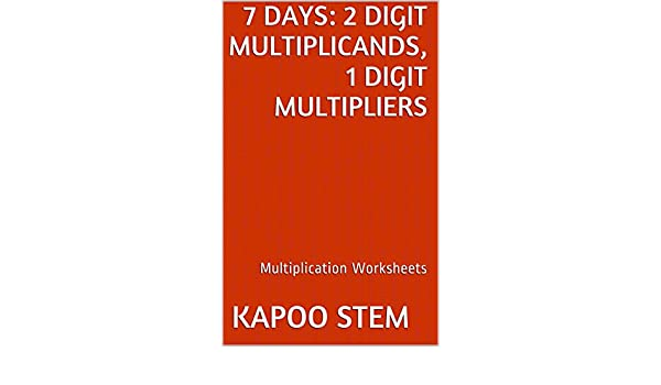 7 Multiplication Worksheets with 2-Digit Multiplicands, 1-Digit ...