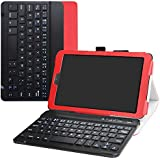Galaxy Tab A 8.0 2018 Keyboard Case,Bige Slim Stand PU Leather Cover with Romovable Wireless Keyboard for Samsung Galaxy Tab A 8.0 2018 Model SM-T387 Verizon/Sprint(Not fit Tab 8.0 T380 2017),Red