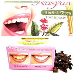 25g ISME RASYAN HERBAL CLOVE TOOTHPASTE WHITENING TEETH ANTI BACTERIA