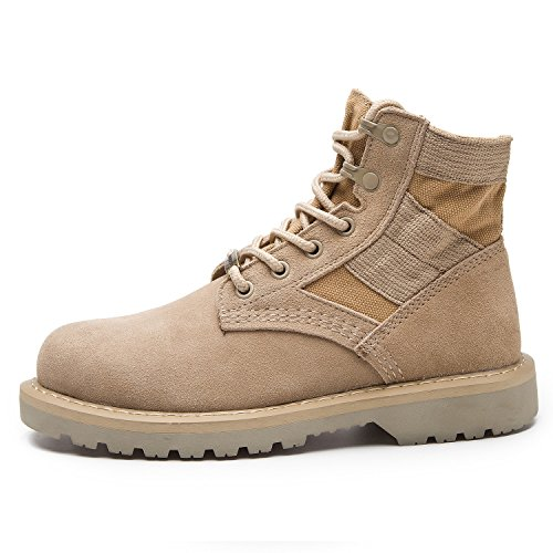RoseG Damen Herren Leder Bootsschuhe Schnürhalbschuhe Desert Boots Cowboy Stiefeletten