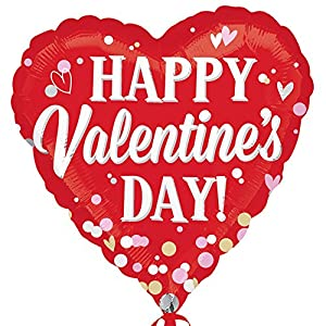 Anagram Happy Valentines Day Heart Shaped Foil Balloon