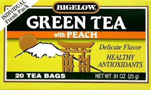 Bigelow Green Tea with Peach 20 ea (Pack of 2) ()