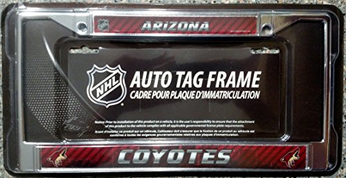 - Phoenix Coyotes LBL City Design Chrome Metal License Plate Frame Tag Cover Hockey