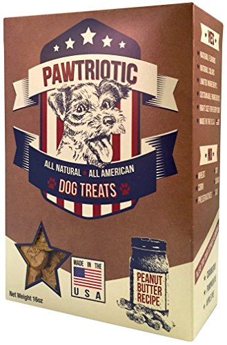 PAWTRIOTIC All Natural All American Dog Treats (1 Pack), Peanut Butter