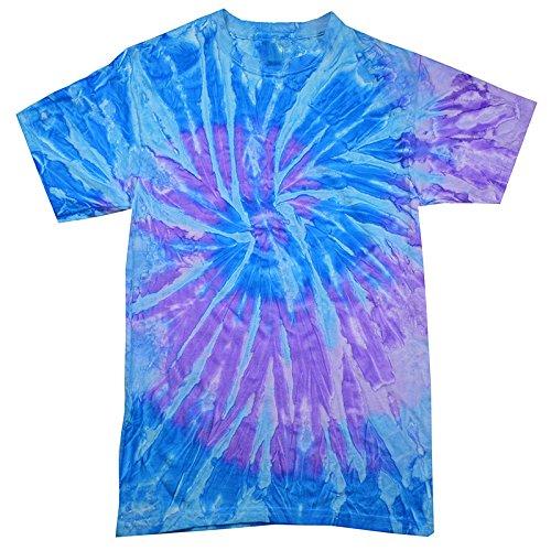 Krazy Tees Tie Dye T-Shirt, Spiral Lavender, Youth M