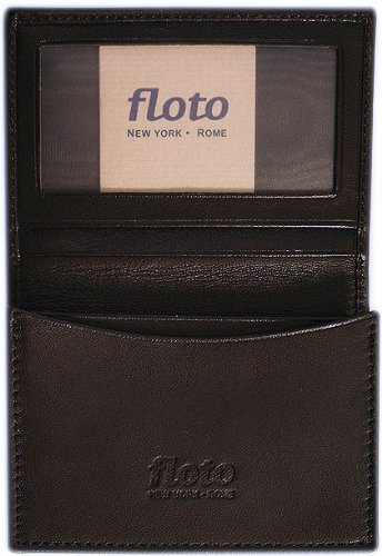 Firenze Leather Business Card Case Color: Black