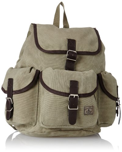 Everest Canvas Rucksack, Olive, One Size