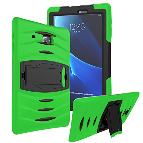 Samsung Galaxy Tab E Lite Tab 3 Lite 7 (T110 / T113) Shockproof Heavy Duty Military Armor Hybrid Case Cover Green by KIQ