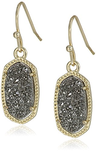 Kendra Scott Signature Lee Gold plated Platinum Drusy Drop Earrings