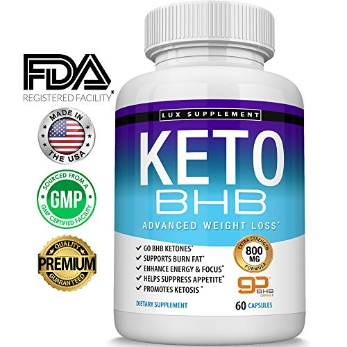 - Keto Pills Advanced Weight Loss BHB Salt - Natural Ketosis Fat Burner Using Ketone & Ketogenic Diet, Boost Energy While Burning Fat, Fast & Effective Perfect for Men Women, 60 Capsules, Lux Supplement
