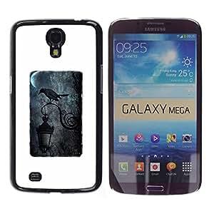 Paccase / SLIM PC / Aliminium Casa Carcasa Funda Case Cover - Black Streetlamp Moon Rain Dark - Samsung Galaxy Mega 6.3 I9200 SGH-i527