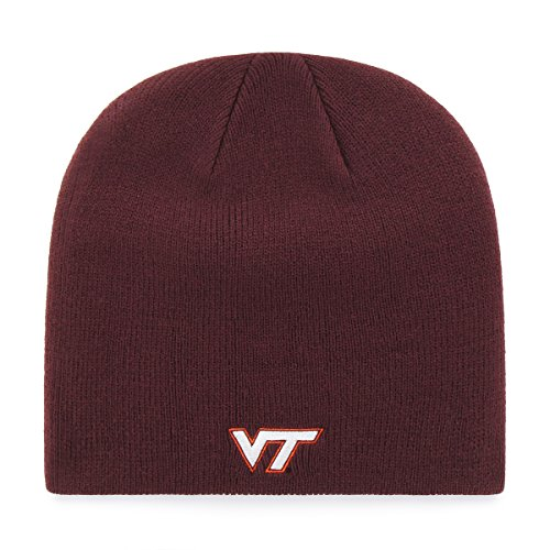 NCAA Virginia Tech Hokies OTS Beanie Knit Cap, Dark Maroon, One Size (Virginia Gear Hokies Tech)