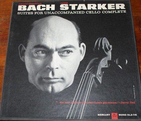 Bach ~ Suites For Unaccompanied Cello Complete, Janos Starker (3 LP Box - Vinyl Unaccompanied Cello