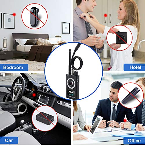 Hidden Camera Detector YICAM Anti Spy Detector Wireless RF Bug Detector GPS Signal Tracker GSM Radio Frequency Finder Laser Lens Magnetic Field Detectors with 3 Detection Modes Scanner