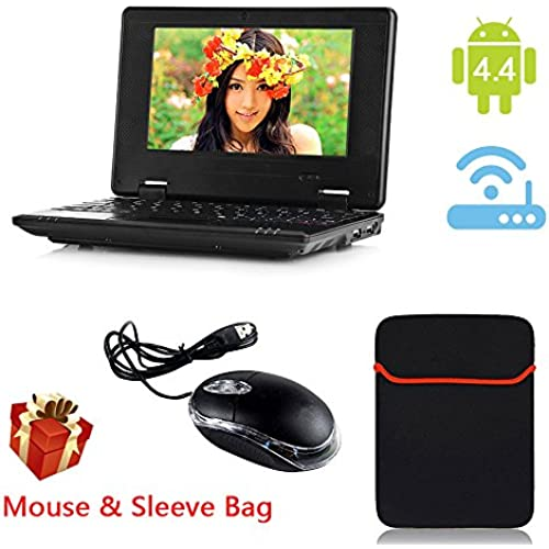 eForprice 7 Mini Notebook Laptop Netbook Android 4.2 4GB Storage VIA 8880 Cortex-A9 1.2ghz Wifi Windows Hd Solid Black Mini Laptop 7 Inch Coupons