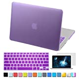 IC ICLOVER-Macbook Pro 13.3 inch Case,Rubberized Matte Hard Shell Plastic Case+Matching Keyboard Skin+LCD Screen Protector for Macbook Pro 13.3-Fits Model A1278(Purple)