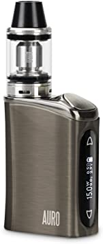 AURO® E-Cigarrillo 60W Mod Caja Recarga Superior Sub 0.5ohm Flujo de Aire Electrónico Cigarrillo Vape Vaporizador Kit de Inicio OLED TC Vapor Kit No E-Cig Vape Líquido Sin Nicotina - Plateado: Amazon.es: