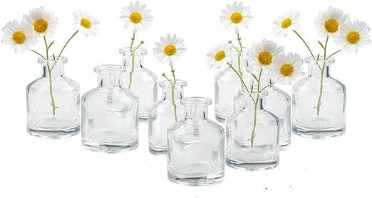 Vintage Clear Glass Single Flower Vase