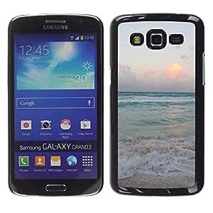 Paccase / SLIM PC / Aliminium Casa Carcasa Funda Case Cover para - Sand Summer Sunset Sunrise Ocean - Samsung Galaxy Grand 2 SM-G7102 SM-G7105