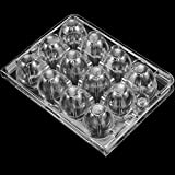 ZEONHAK 150 Pack 12 Cells Clear Quail Egg