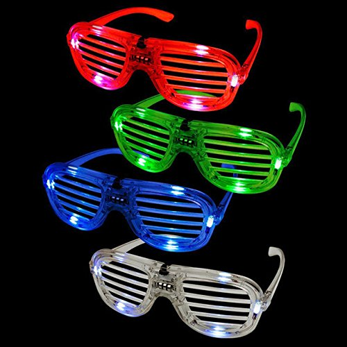 er Shades Sunglass w/ Flashing LED Settings Bulk (Pack of 12) - iGifts Inc. ()