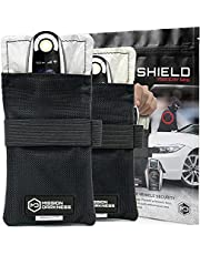New 2-Pack - Mission Darkness Faraday Bag for Keyfobs - RF Shielding Protective Case for Smart Always On Keys Fobs Transmitters Small Electronics Vehicle Security Anti-Hacking Block Signal Relay