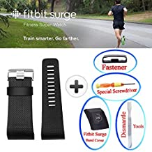 hellosy More Styled and Super Cute Band Cover - Fitbit Surge Slim Designer Sleeve Protector accessories (No Tracker,No Band) +Small Gift
