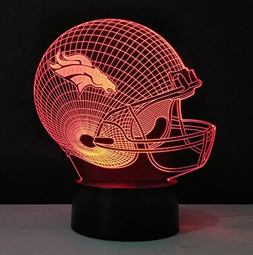 Football Helmet Light – Touch Control Football Helmet Light- Upgraded Color Changing Touch Light – Night Light for Boys Men Women – Perfect Gift for Football Sports Lovers (Denver Broncos)