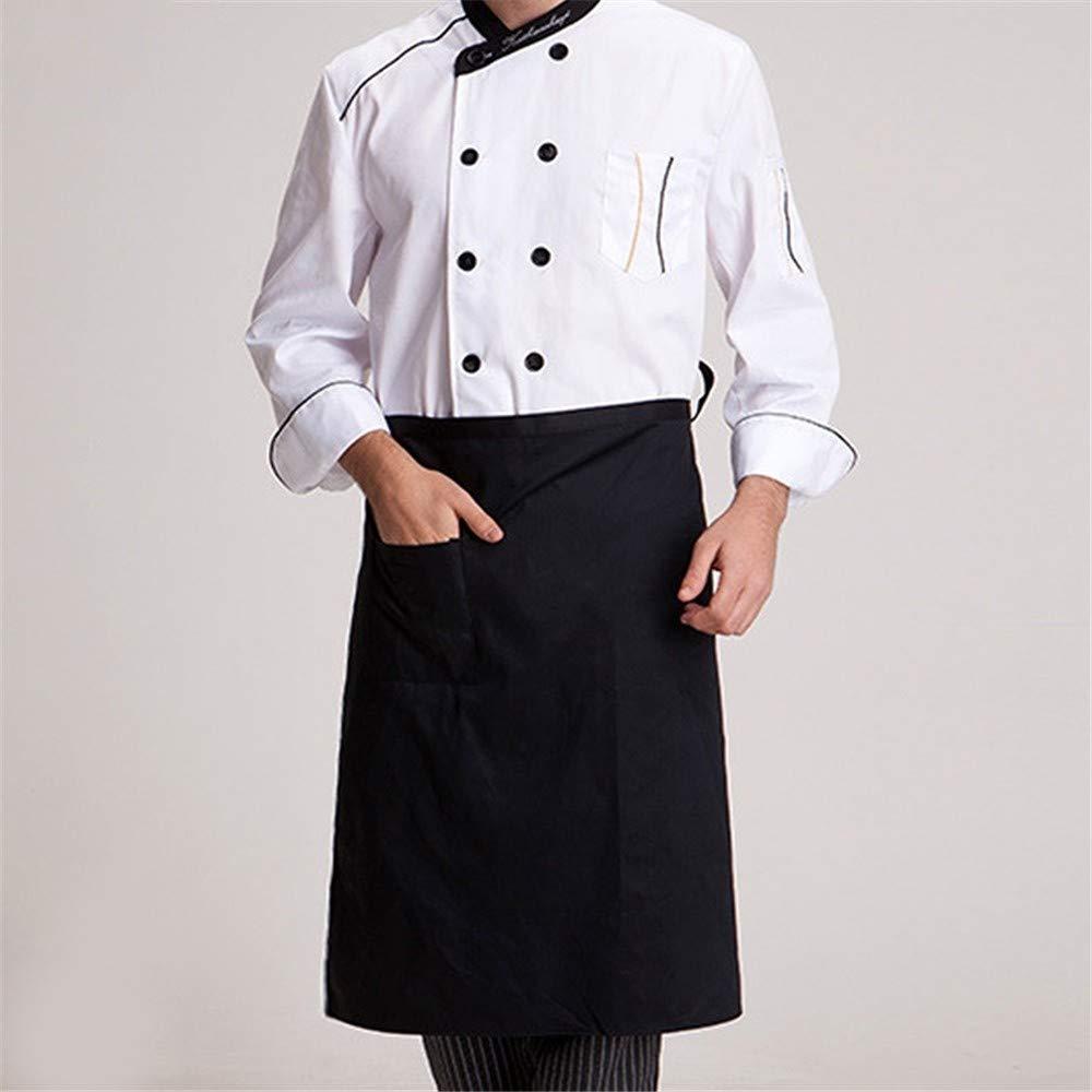 1 HGDQ Tablier de Cuisine Tablier de Cuisine Tablier Demi-Long et /à la Taille Traiteur Serveurs Uniformes