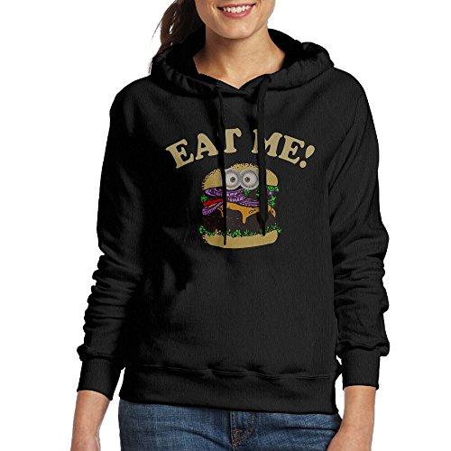Curcy Eat Me Hamburger Hoodie Sweatshirt For WomenCamperSize XL - Mountaineering Vintage Goggles