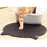 "Blackhole Cat Litter Mat - Headshape 23"" X 21"""