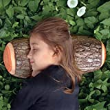 Big Size Green Log Pillow Cushion Decorative Pillows Wooden Grain and Wood Throw Pillows for Home Office Car Soft Decor