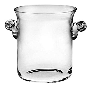 Barski -Glass- Ice Bucket- Wine Cooler - 8 H Glass - with 2 handles - Clear - Made in Europe