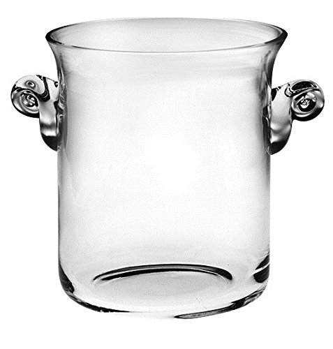 Barski -Glass- Ice Bucket- Wine Cooler - 8''H Glass - with 2 handles - Clear - Made in Europe