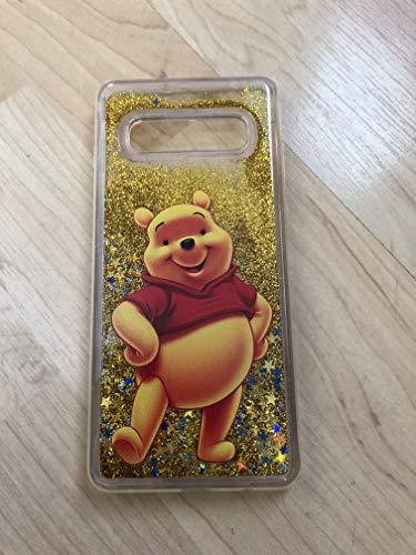(Galaxy S10 Case,Winnie The Pooh Sparkle Liquid Glitter Quicksand TPU Case For Samsung Galaxy S10)