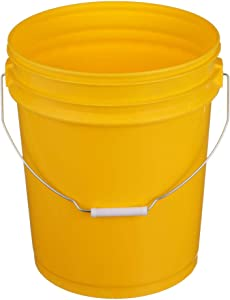 SEACHOICE 90120 5-Gallon Plastic Bucket with Metal Handle Yellow, One Size
