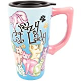 Spoontiques Crazy Cat Lady Travel Mug, Multi Colored