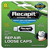 Recapit Temporary Cement Repairs Loose Crowns, 0.4 oz (1 g)