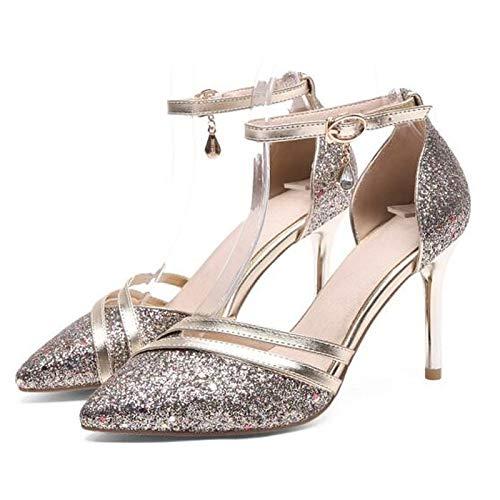 Gris Primavera Tacones Stiletto Comodidad Microfibra Gray De Zapatos Negro QOIQNLSN Rosa Talón Mujer R1qYvUSS