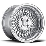 klutch wheels sl1 15x8.5 et17 4x100 silver machined 3.5inch lip BMW E30 318 325