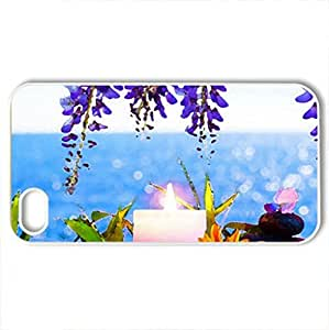 Beauty Flowers - Case Cover for iPhone 4 and 4s (Flowers Series, Watercolor style, White)