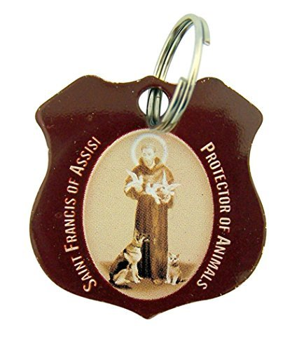 CB Stainless Steel Saint Francis of Assisi Protector of Animals Pet Medal, 1 1/4 Inch