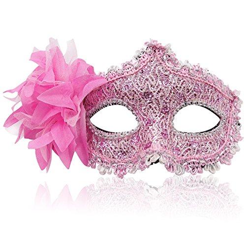 FaceWood Masquerade Mask Mardi Gras Mask for Women Handmade Venetian Party Prom -