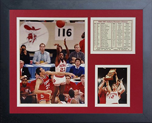 1987 Indiana Hoosiers (Legends Never Die 1987 Indiana Hoosiers Champions Collage Photo Frame, 11