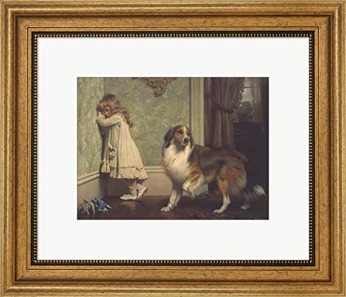 Special Pleader by Charles Burton Barber Framed Art Print Wall Picture, Wide Gold Frame, 19 x 16 inches