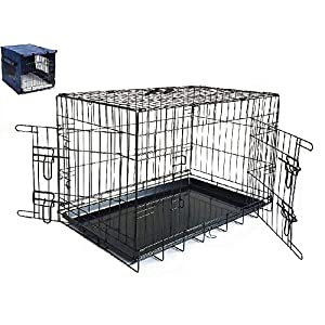 Petnap Pet, Dog, Cat Animal Crate with Accessories, Pen Car Cage for transportation, Vehicle Cage 12