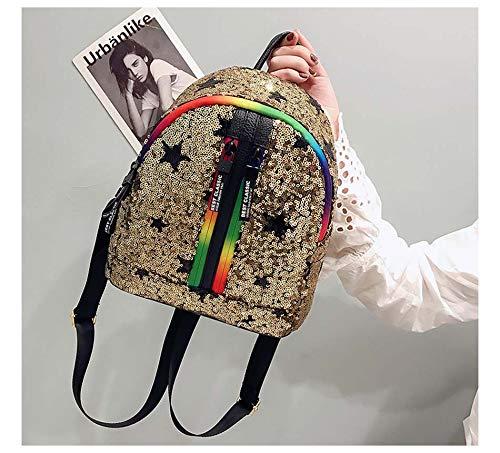 d'été Voyage à dos filles pour à clair VHVCX Gold les sac Petit souple Femme Paillettes Mode dos Sacs Sacs Sac d'école qanxAEHwS