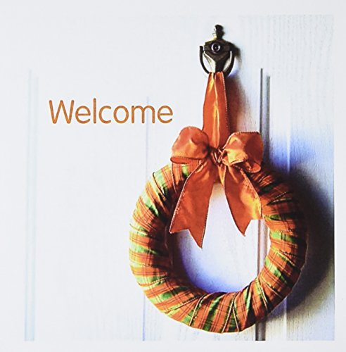 3dRose Print of Country Wreath on Door Says Welcome - Greeting Cards, 6 x 6
