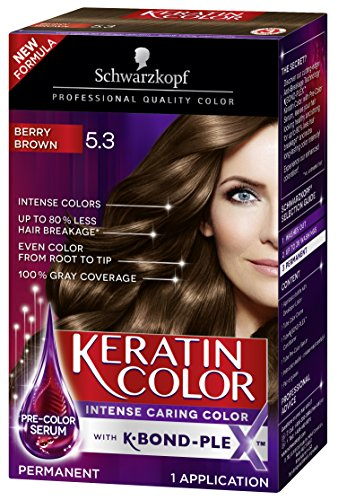 Schwarzkopf Keratin Hair Color, Berry Brown 5.3, 2.03 Ounce.
